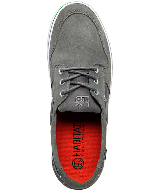 Habitat Charter Cement Suede & Canvas Skate Shoes