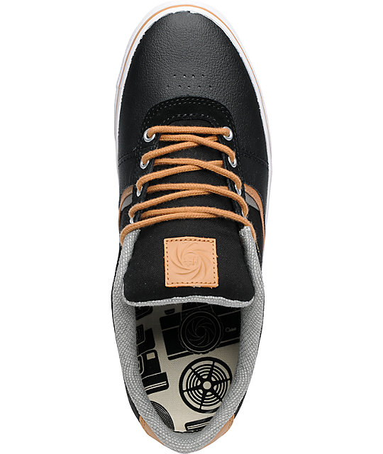 Habitat Lark Black & Tan Suede Skate Shoes
