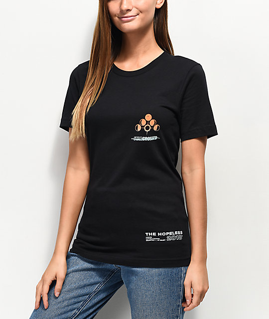 Halsey Triple Star Cross Black T-Shirt