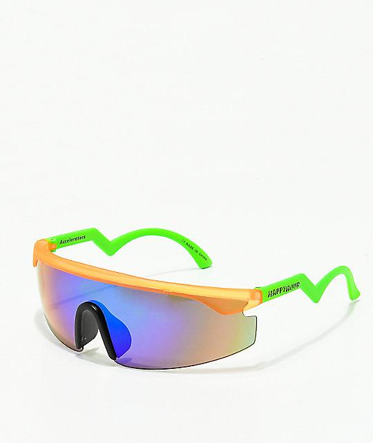 52bc3b0426 Happy Hour Accelerators Orange   Green Sunglasses