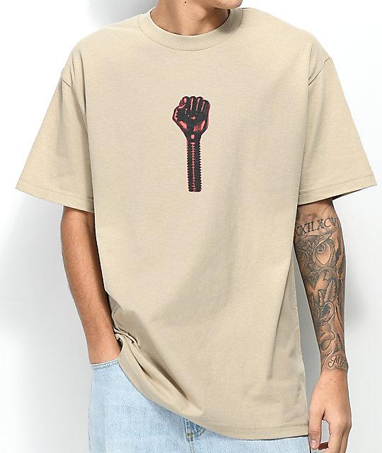 Hardies Hardware Bolt Icon Sand T-Shirt ...