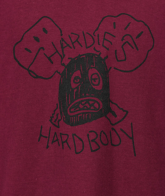Hardies Hardware Hardbody camiseta en color borgoño