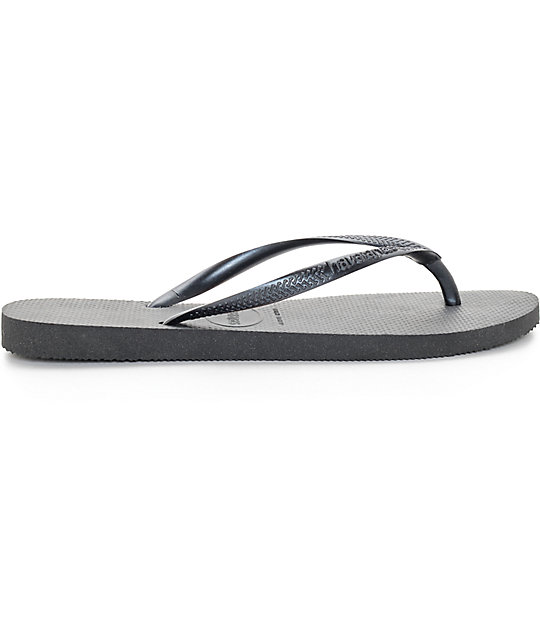 3266cb5e5 ... Havaianas Slim Black Flip Flop Sandals