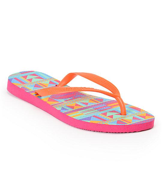 aa58c68ba8b5 Havaianas Slim Graphic Tribal Print Flip Flop Sandals
