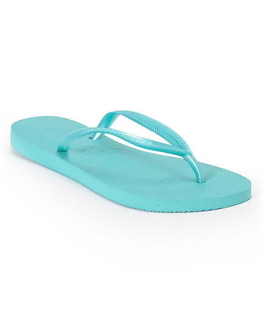 Havaianas Slim Pool Green Flip Flop Sandals