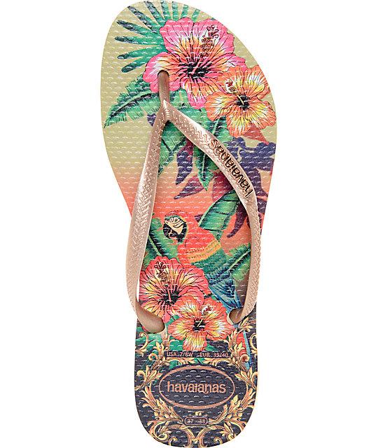 28442e0aa00f ... Havaianas Slim Tropical Flip Flop Sandals ...