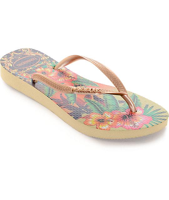 Havaianas Slim Tropical Flip Flop Sandals  508d9e61f
