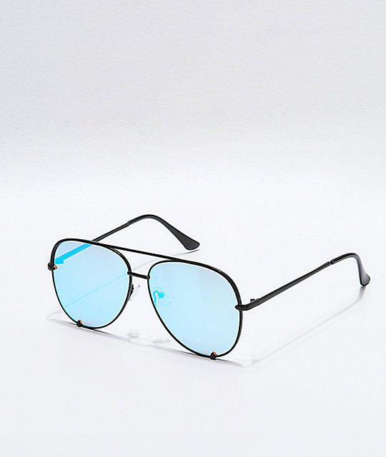 Haven Black And Turquoise Revolution Sunglasses by I Sea