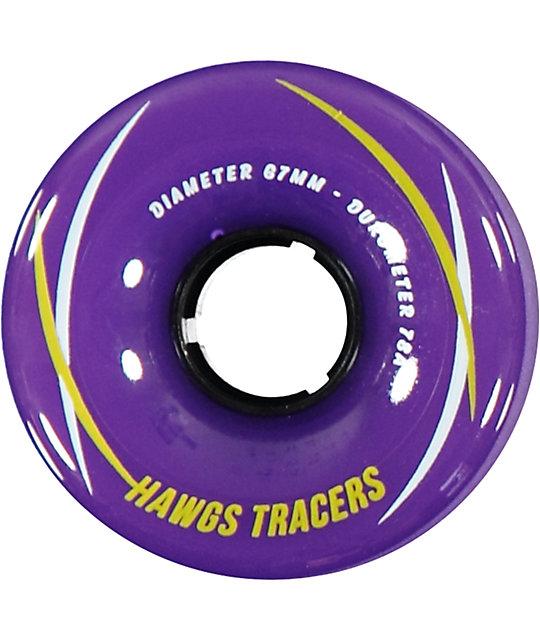 """/""""HAWGS/"""" TRACER 67MM 78A WHEELS BLUE LONGBOARD WHEELS"""