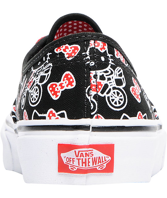 Hello Kitty Vans Authentic Black Shoes