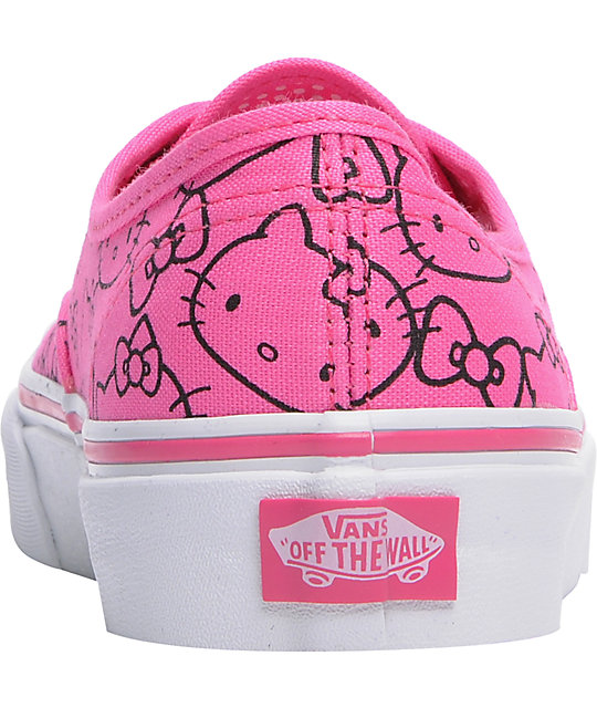 Hello Kitty Vans Authentic Pink Shoes