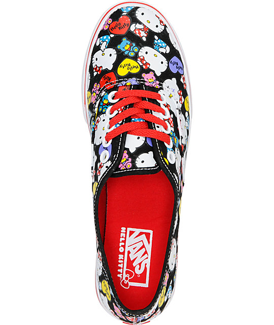 Hello Kitty Vans Black & Red Authentic Lo Pro Shoes
