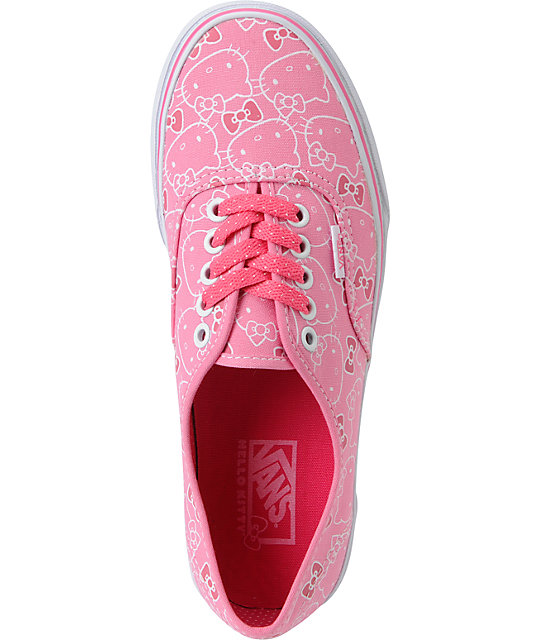 Hello Kitty Vans Hawaiian Pink Authentic Shoes