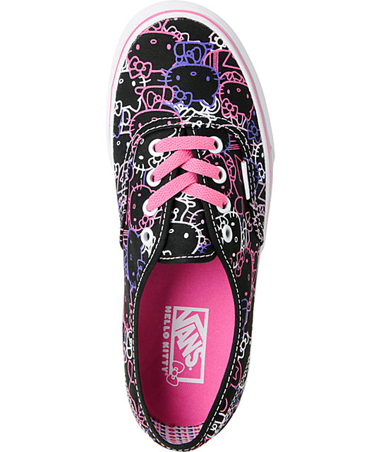 2880b1ebbd ... Hello Kitty Vans Passion Flower Pink Authentic Shoes ...