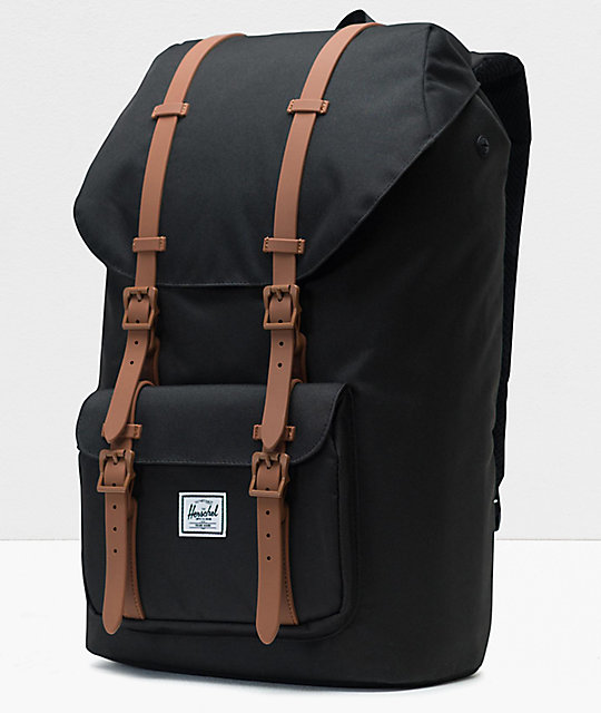 Herschel Little America Black & Saddle mochila