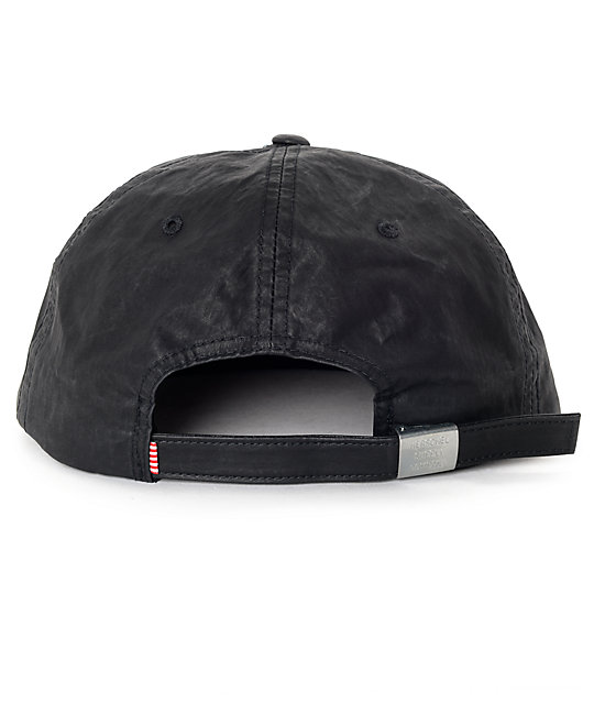 Herschel Supply Co. Albert Carbon Coated Black Snapback Hat
