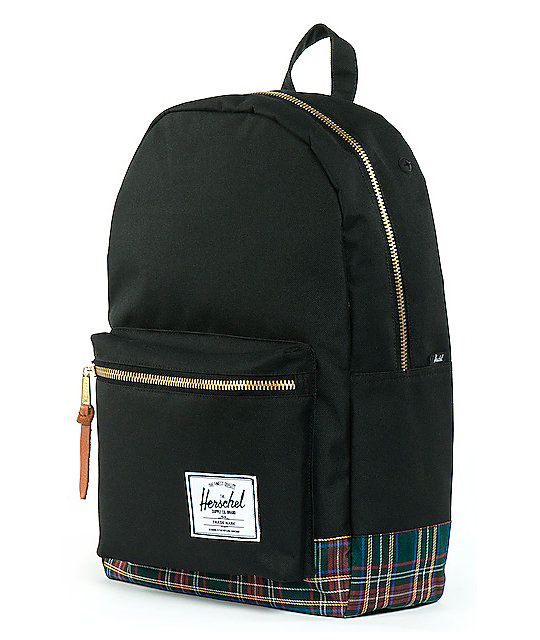 Herschel Supply Co. Black Tartan Settlement Backpack