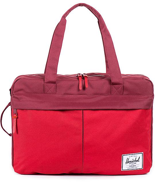 96af066a2894 Herschel Supply Co. Bowen Red   Burgundy Travel Duffle Bag