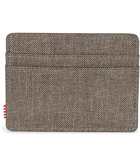 Herschel Supply Co. Charlie Canteen Crosshatch Cardholder Wallet