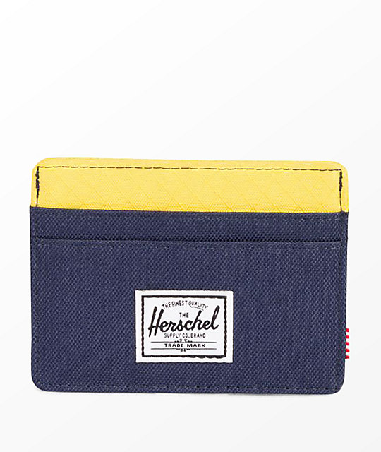 Herschel Supply Co. Charlie Peacoat Cyber Yellow Cardholder