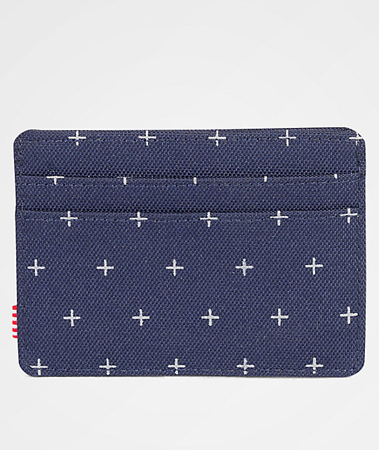 Herschel Supply Co. Charlie Peacoat Gridlock Cardholder Wallet
