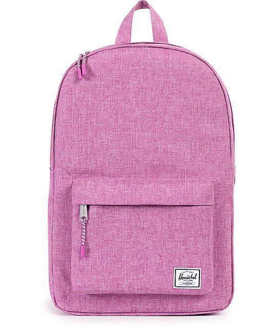 c0cc149ecd Herschel Supply Co. Classic Fuchsia Crosshatch 13L Backpack | Zumiez