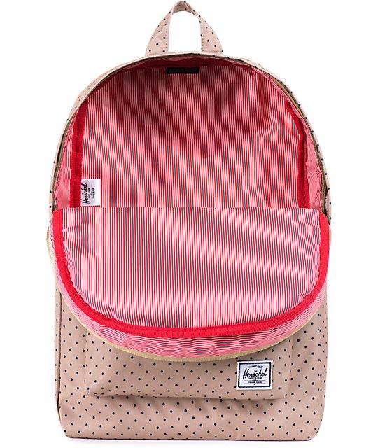 ebe43cf91e8 Herschel Supply Co. Classic Khaki Polka Dot 11L Mid Volume Backpack ...