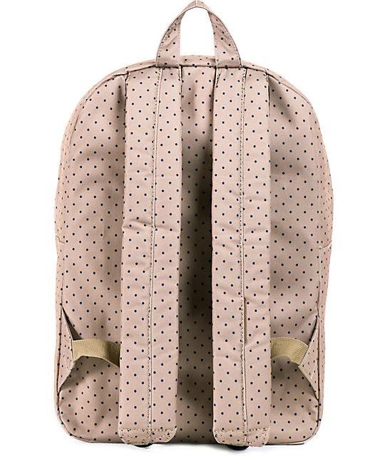 72a2001b996 ... Herschel Supply Co. Classic Khaki Polka Dot 11L Mid Volume Backpack ...