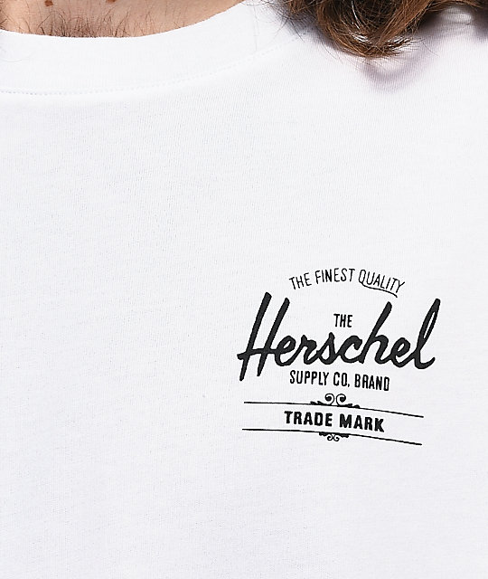 Herschel Supply Co. Classic Logo camiseta blanca