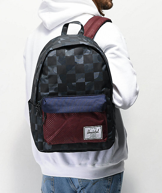 Herschel Supply Co. Classic XL Kaleidoscope Camo Dot mochila gris