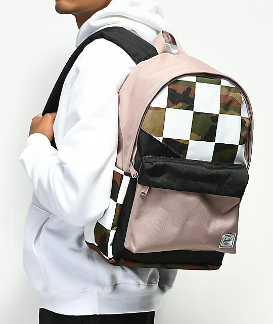 Herschel Supply Co. Classic XL Kaleidoscope Check & Camo Backpack