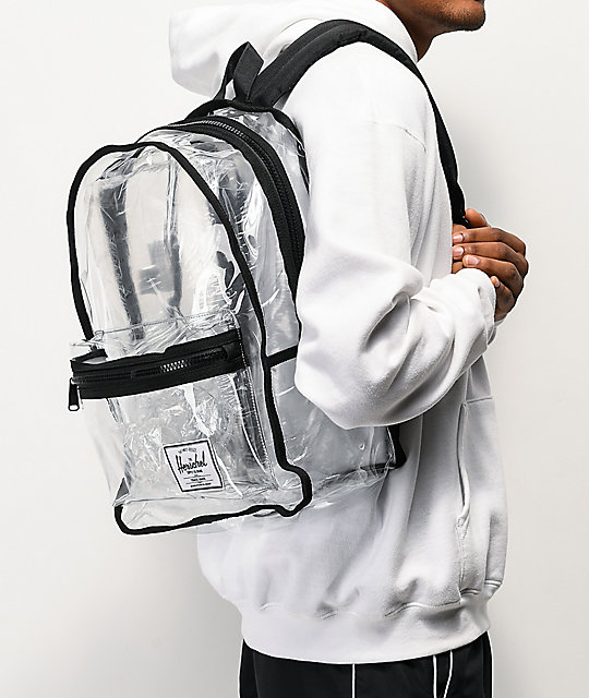Herschel Supply Co. Classic XL mochila negra y transparente