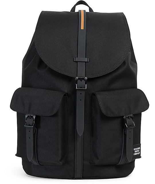 241dfd3fb5ea Herschel Supply Co. Dawson Black   Gum Rubber 20.5L Rucksack Backpack