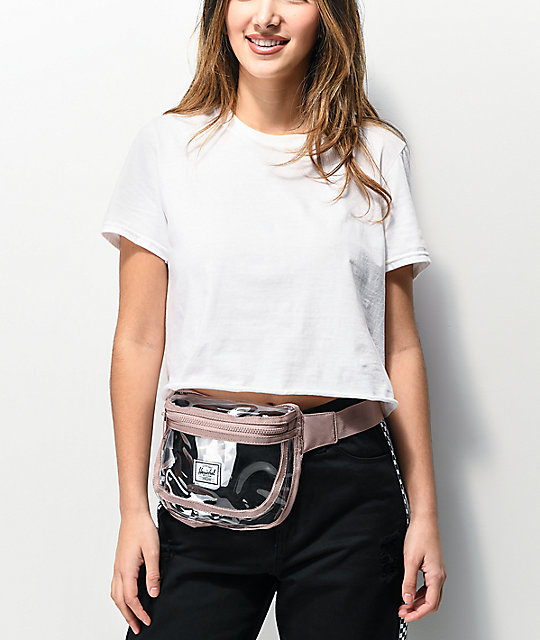 Herschel Supply Co. Fifteen Ash Rose Clear Fanny Pack