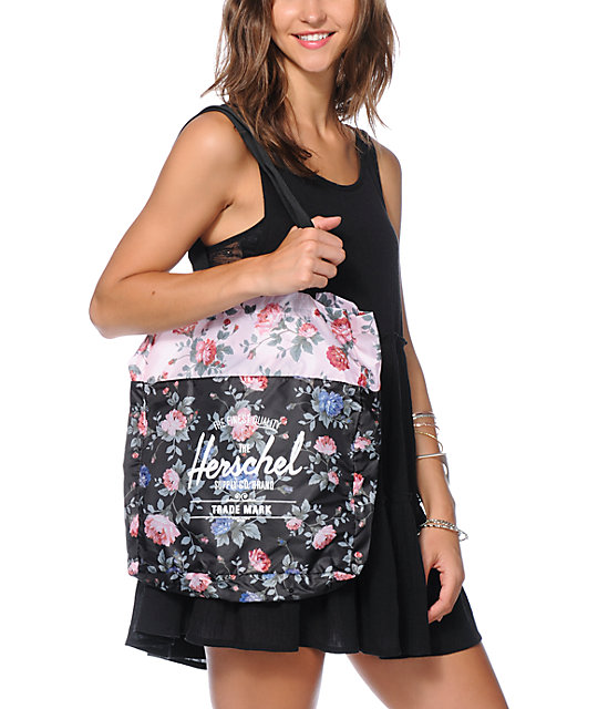 Herschel Supply Co. Floral Packable Travel Tote