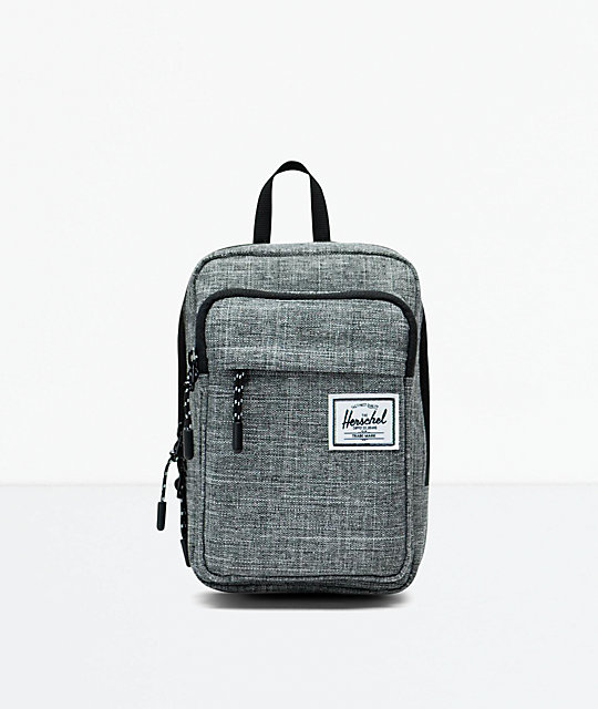 3ca51c7079ba Herschel Supply Co. Form Large Raven Crosshatch Crossbody Bag | Zumiez.ca