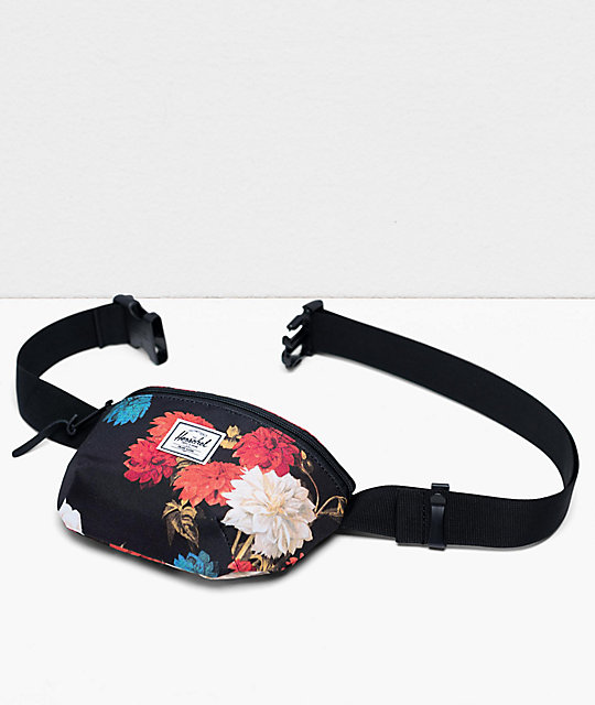 Herschel Supply Co. Fourteen Vintage riñonera negra floral