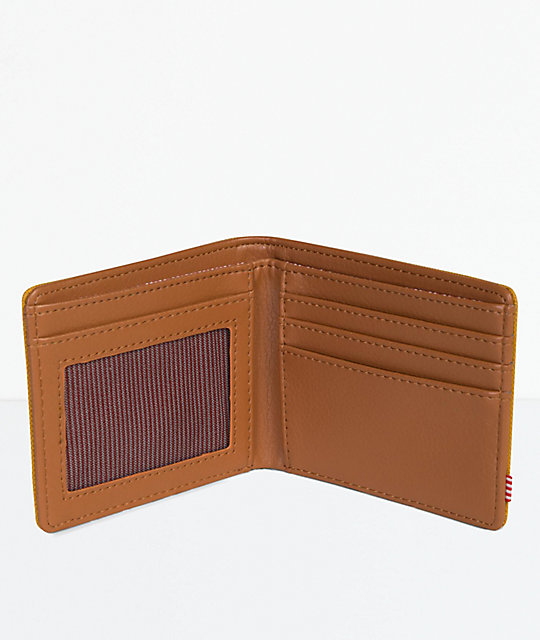 Herschel Supply Co. Hank Arrowwood & Tan Bifold Wallet