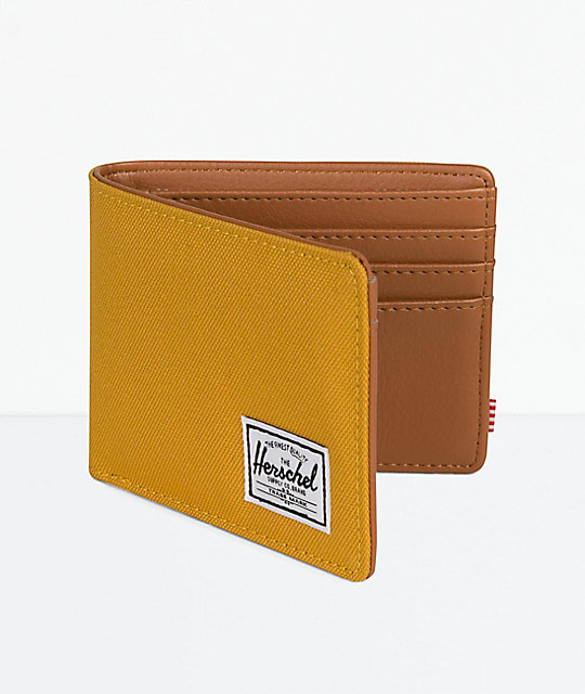 Herschel Supply Co. Hank Arrowwood cartera plegable dorada