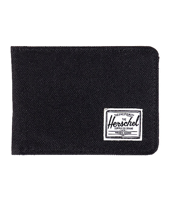 Herschel Supply Co. Hank Black Canvas Bifold Wallet