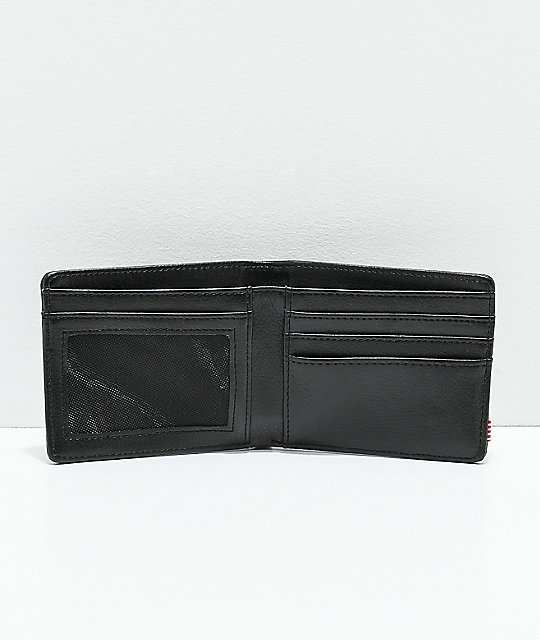 Herschel Supply Co. Hank Black Pebble Leather Bifold Wallet