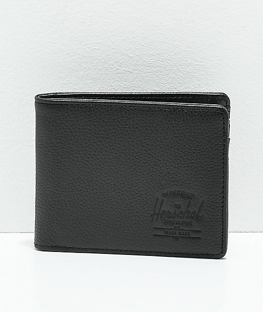 63e0bb2eedcf Herschel Supply Co. Hank Black Pebble Leather Bifold Wallet