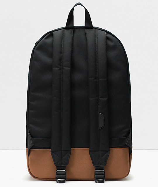 Herschel Supply Co. Heritage Black & Saddle mochila