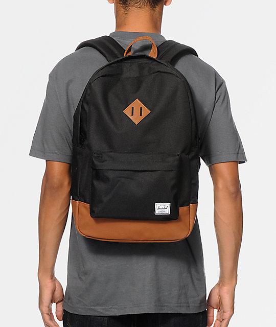 3ef1b8bcea Heritage Black   Tan Backpack  Herschel Supply Co. Heritage Black   Tan  Backpack ...