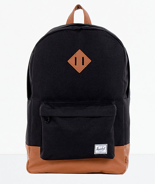 fe2603e08bf7 Herschel Supply Co. Heritage Black   Tan Backpack