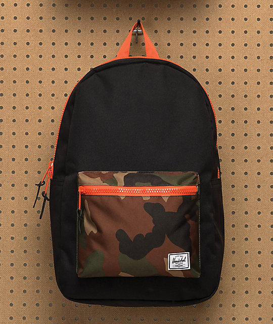 cf363505f44e Herschel Supply Co. Heritage Black   Woodland Camo 21.5L Backpack ...
