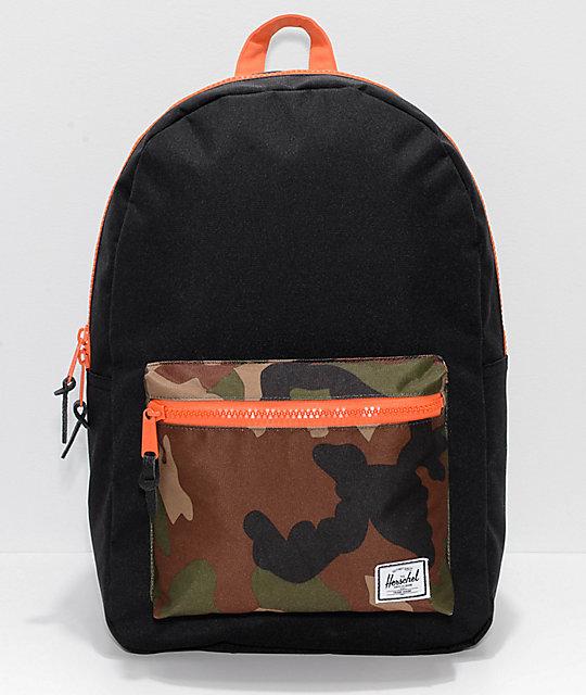 cf363505f44e Herschel Supply Co. Heritage Black   Woodland Camo 21.5L Backpack ...
