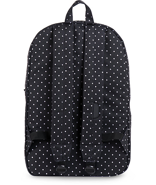 ab60428caf18 Heritage Black Polka Dot Backpack  Herschel Supply Co. Heritage Black Polka  Dot Backpack ...