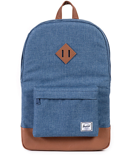 Herschel Supply Co. Heritage Chambray Crosshatch 21L Backpack  318db6466a593