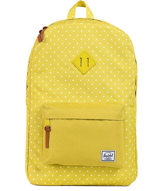 ba5b3c04de Herschel Supply Co. Heritage Green Polka Dot Backpack